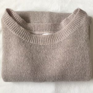 Large Leith alpaca blend knit pullover sweater~